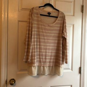 Torrid 3x twofer sweater pink and white striped